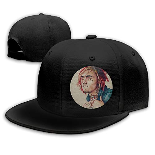 Lakssn Verstellbar Damen Herren Lil-Pump Boss Logo Black Baseball Hat Cap Baseballcap Kappe Flatbrim Snapback Mütze Für Jungen Mädchen