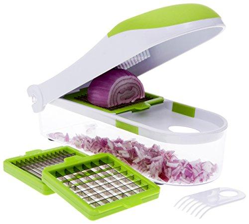 Homemaker Zwiebelschneider, Schneider, Würfelschneider und Reibe, robust, für Gemüse, Obst, Käse, 3 Klingen