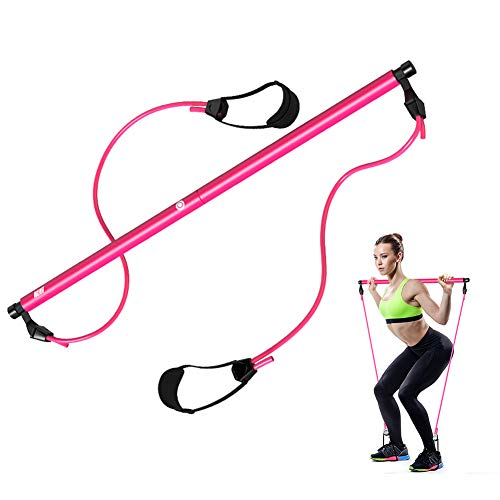 AUTUWT Widerstandsband-System, verstellbares Widerstandsband mit klappbarem Widerstand, Griffen, Langhantel-Übungen, Gewichtheben und HIIT Intervalltrainings-Set für Pilates, Workout