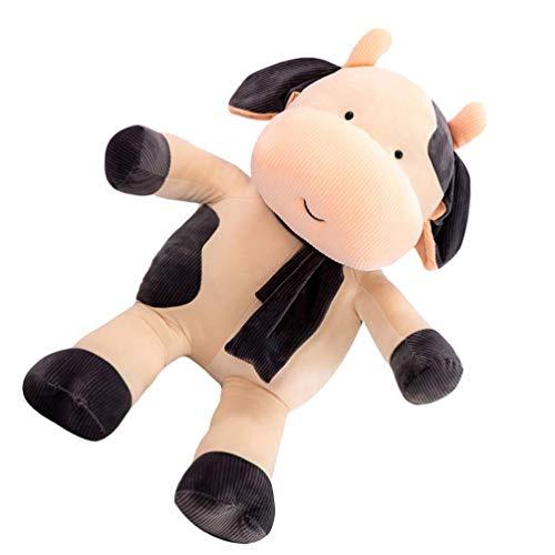 Siamrose Muñecas de vaca, juguete de peluche de ternera, juguete de peluche de vaca, para niños regalo de cumpleaños juguetes decoración del hogar 1 unids LTLNB