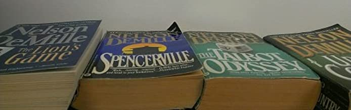 4 Volumes of Nelson DeMille Paperback Novels: The Talbot Odyssey, Up Country, The Lions Game, Spencerville