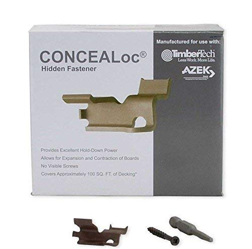 commercial TimberTech CONCEALoc Fasteners – 175 pcs.In the box hidden deck fasteners