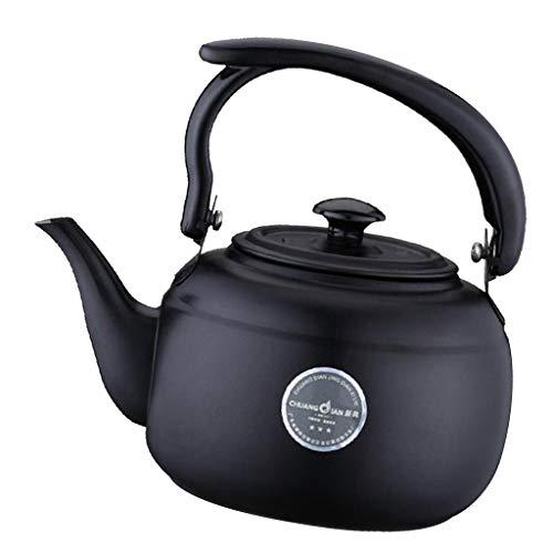 SM SunniMix Bollitore per tè in Acciaio Inox Teiera in Metallo Teiera per Piano Cottura A Induzione Stufa Top Calore Teiera di Acqua - Nero, Come descritto