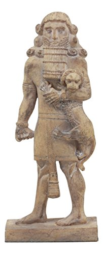 Ebros Louvre Museum Ancient Assyrian Warrior Gilgamesh Statue 8.75' Tall Akkadian Poem Demigod Hero Ancient Mesopotamian Mythology Decorative Collectible