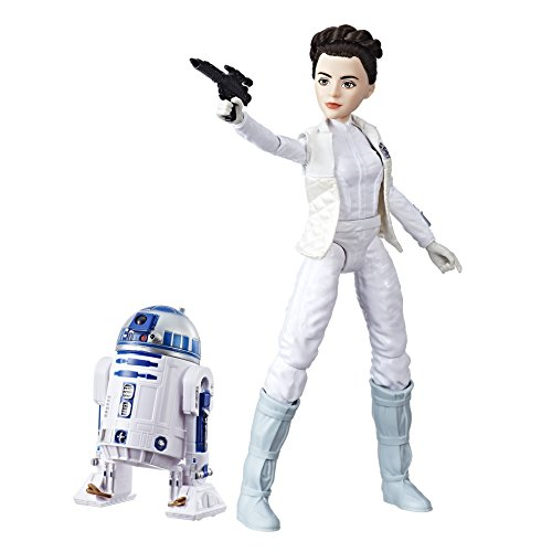 Hasbro Star Wars C1629ES0 - Die Mächte des Schicksals 11 Zoll Deluxe Action Puppen 2er Set - Leia und R2D2, Actionfiguren