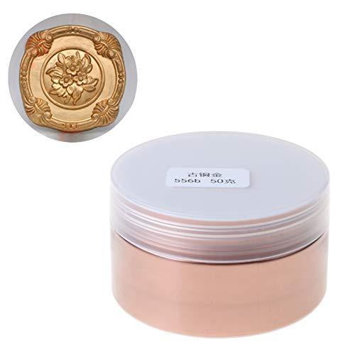 QIANGU Collares Pendientes, Polvo metálico Resina Pigmento Tonos metálicos Joya Tinte colorante en Polvo de Perlas