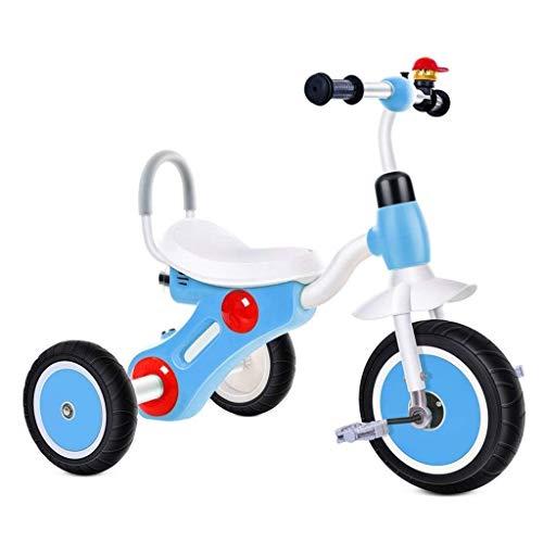 Bicicleta para niños- Bicicletas Triciclo 2 ~ 8 Años Pedal Pedal Bicicleta Indoor Niños Preescolar Bicicleta Niños Juguetes Bicicletas Seguridad Bicicleta Pedal ( Color : Blue , Size : 74x50x57cm )