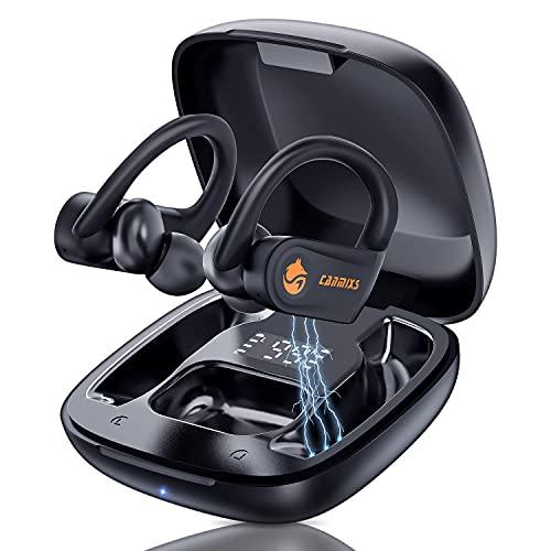 CanMixs Cuffie Bluetooth, Auricolari Bluetooth 5.0 Sport Cuffie Senza Fili IPX6 Impermeabili, In Ear Cuffie Bluetooth con Hi-FiStereo Microfono 35 Ore di Riproduzione, Cancellazione del Rumore