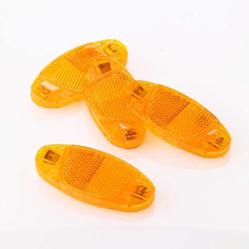 FISCHER Fahrrad Speichen Reflektoren-Set | Katzenaugen | 4 Stück | StVZO zugelassen | Farbe: gelb