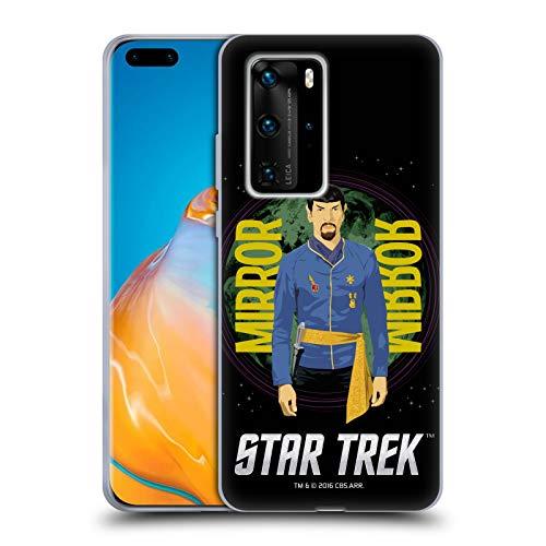 Head Case Designs Offizielle Star Trek Spiegel Spock Ikonische Figuren TOS Soft Gel Handyhülle Hülle Huelle kompatibel mit Huawei P40 Pro / P40 Pro Plus