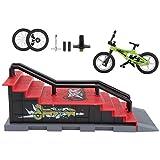 Toddmomy Mini Doigt Jouets Ensemble Doigt Vélo Parc Rampe Jouets Mini VTT BMX Doigt Vélo pour Enfants Enfant en Bas Âge Fête d'anniversaire Faveur Style 1 ( Accessoire Aléatoire )