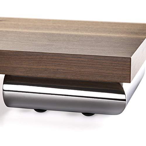 4 x SO-TECH® Pata de Mueble INDIA II Cromo Pulido 150 x 150 x 50 mm