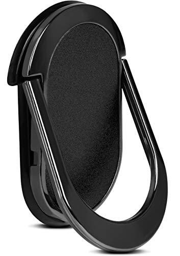 ONEFLOW Flip Loop Fingerhalterung für alle Acer Modelle - Handy Ring mit integriertem Magnet & Ständer, Halter Handgriff, Smartphone Fingerhalter, Schwarz