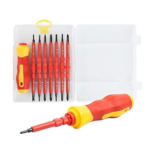 Schraubendreher Set 14 in1 Feinmechaniker Werkzeug Isolierter Screwdriver Reparatur von Elektrische.