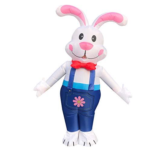 Vobery Easter Bunny Disfraz Inflable Disfraz Juego Mono Traje de Cosplay