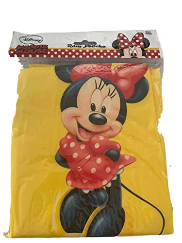 Disney Minnie Mouse Standing Yellow Adult Women's Poncho
