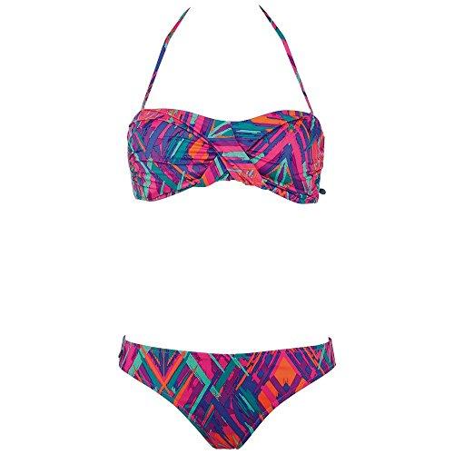 Chiemsee Damen Bandeau Bikini Ebony 2, Ethno Splash, L