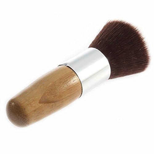 Mémoire tampon : Fond de teint poudre Brosse Cosmétique Maquillage Outil de base Manche en bois