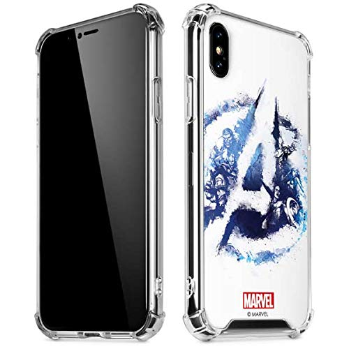 size 40 6d650 4348b Skinit Avengers Blue Logo iPhone XR Clear Case - Officially Licensed  Marvel/Disney Phone Case Clear - Transparent iPhone XR Cover