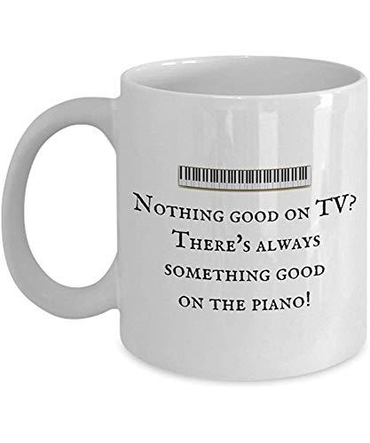 Lustige Kaffeetasse personalisierte Tassen 11 Unzen Print Mug Freund Geburtstag Familie Geschenk-Piano etwas Gutes auf dem Klavier