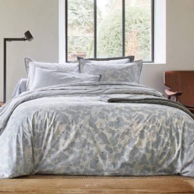 Blanc des Vosges Camouflage Platine Drap 240 x 300 cm - Percale 100% Coton 80 Fils/cm²