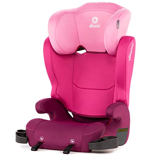 Diono Cambria 2 Latch, 2-in-1 Belt Positioning Booster Seat, High-Back to Backless Booster XL Space and Room to Grow, 8 Years 1 Booster Seat, Ultimate Safety and Protection, Pink Montana