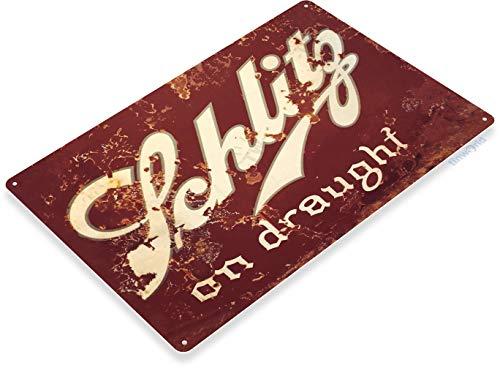 """Tinworld TIN Sign """"Schlitz Draugt Beer Metal Art Store Pub Brew Shop Bar Pub A602"""
