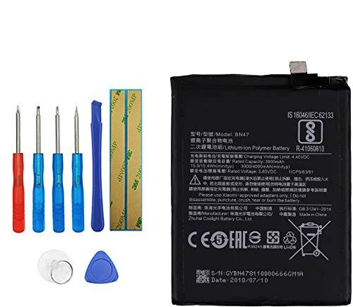 Upplus E-YIIVIIL BN47 Batería de repuesto compatible para Xiaomi RedMi6 Pro Mi A2 Lite con kit de herramientas