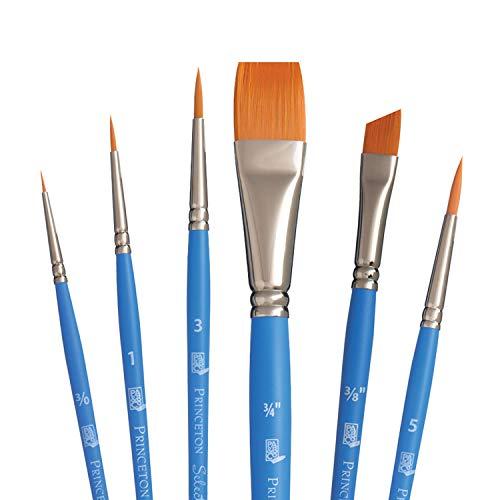 Princeton 3750TS-10//0 Select Artiste Spot Detailer Angle Paintbrush Size 10//0 10 Multicolor Synthetic