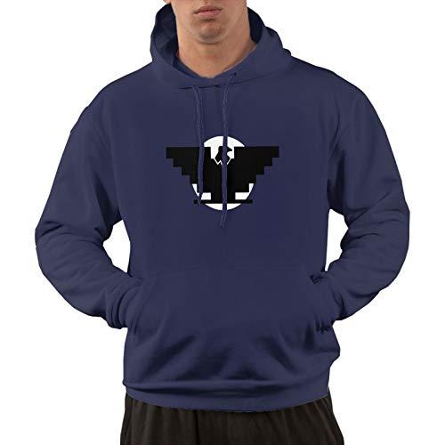 Aztlan Huelga Bird Men's Pullover Hoodie Hooded Sweater Fleece Hoodie with Pockets Navy