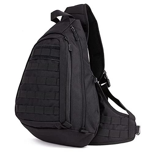 JJBKT Bolso de mensajero táctico Molle, bolso militar del ejército, bolsa de senderismo para deportes al aire libre, mochila de viaje de los hombres, Hombre, 3076431033, negro, Other