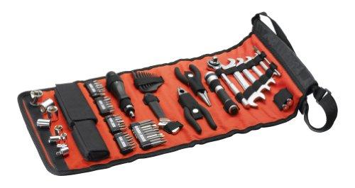 Black+Decker Rolltasche (mit Autowerkzeugzubehör, Taschenlampe, Schrauberklingen, Bits, Handwerkzeuge) A7144 - 2