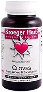 Kroeger Herb Fresh Ground Cloves 450 Mg Vegetarian Capsules, 100 Count