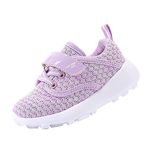 EIGHT KM Zapatos para niños pequeños/niñas Zapatillas de Deporte Ligeras para niños EKM7024 Crochet Purpura Talla 22