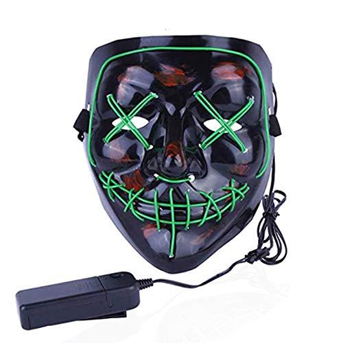 Máscara de miedo de Halloween,LED Máscaras Halloween,Máscara de Halloween con 3 modos de flash para decoración, cosplay, Mascaradas, Carnavales