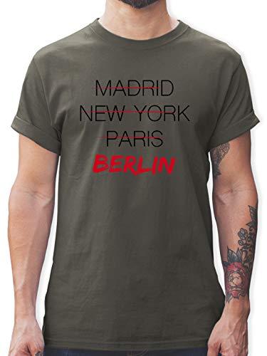 Städte - Weltstadt Berlin - L - Dunkelgrau - Berlin Herren t-Shirt - L190 - Tshirt Herren und Männer T-Shirts