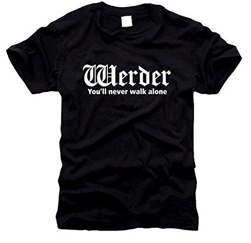 FOTL / B&C / Gildan Werder - You'll Never Walk Alone - T-Shirt - Gr. S