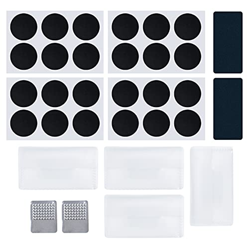 AUEAR, 24 Pack Self Adhesive Bike Tire Patches Kit Bike Puncture Repair Patches for Bicycle Tube Repair