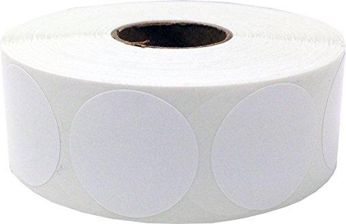 Blancas Pegatinas Circulares, 25 mm 1 Pulgadas Etiquetas de Puntos 500 Paquete
