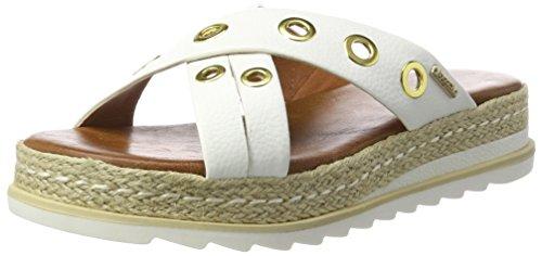 bugatti Damen J93906N Pantoletten, Weiß (weiß 200), 39 EU