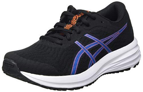 Asics Patriot 12 GS, Road Running Shoe, Black/Reborn Blue, 34.5 EU