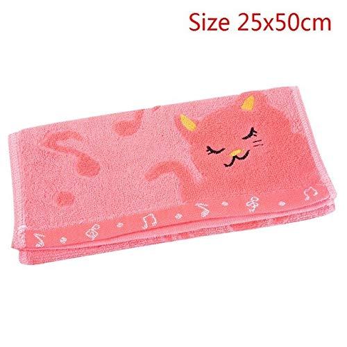 Mdsfe 4 Farben Hochabsorbierendes Gesichtstuch Dickes Baumwoll-Badetuch Strandtuch Für Erwachsene Schnelltrocknend Weich - B-pink, a2