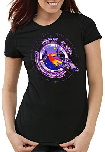 A.N.T. King Cup Champion Camiseta para Mujer T-Shirt Captain Falcon fzero, Talla:L