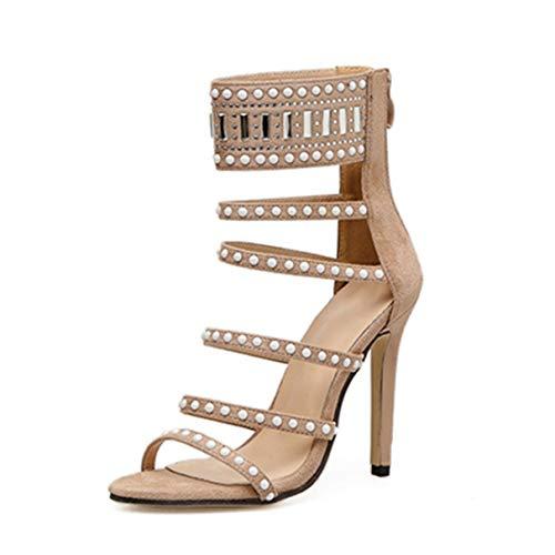 Damen Sandalen Knöchelriemen Stiletto Damen Lässig Stilvolle Pumps Schuhe