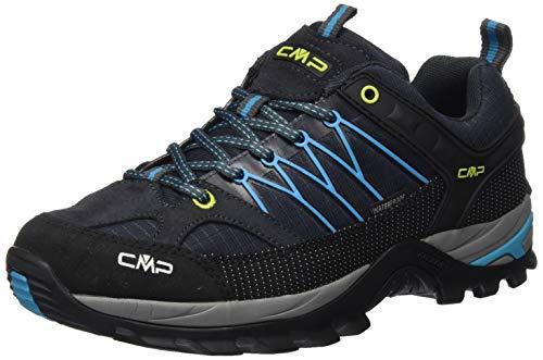 CMP – F.lli Campagnolo Herren Rigel Low Shoe Wp Trekking-& Wanderhalbschuhe, Blau (Antracite-RIF 25TE), 43 EU
