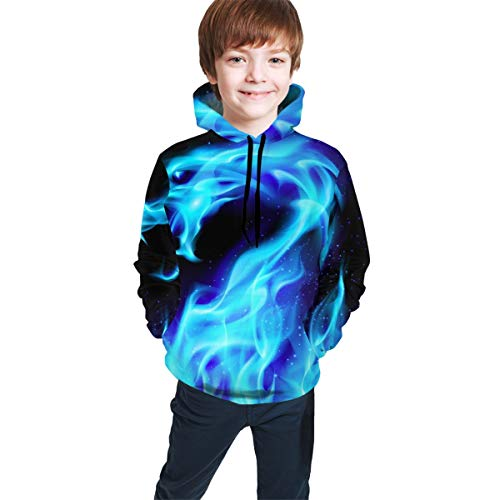 Teen Pullover Hoodies with Pocket Autumn Leaf Abstract Soft Fleece Hooded Sweatshirt for Youth Teens Kids Boys Girls