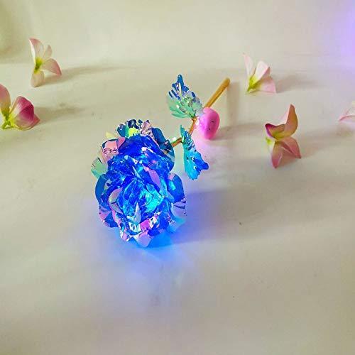 KONGZIR Luminous 33k Lichterkette Künstliche Blumen Goldfolie Rose Stern Hauptdekoration A02 (Color : LL)