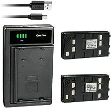 Kastar 2-Pack Battery and Smart USB Charger Compatible with Panasonic BP-12 BP-15 BP-17 BP-18 HHR-V20A/1B HHR-V214A/K HHR-V40A/1B PV-213A PV-214A PV-215A PV-B18 PV-BP15 PV-BP17 Battery