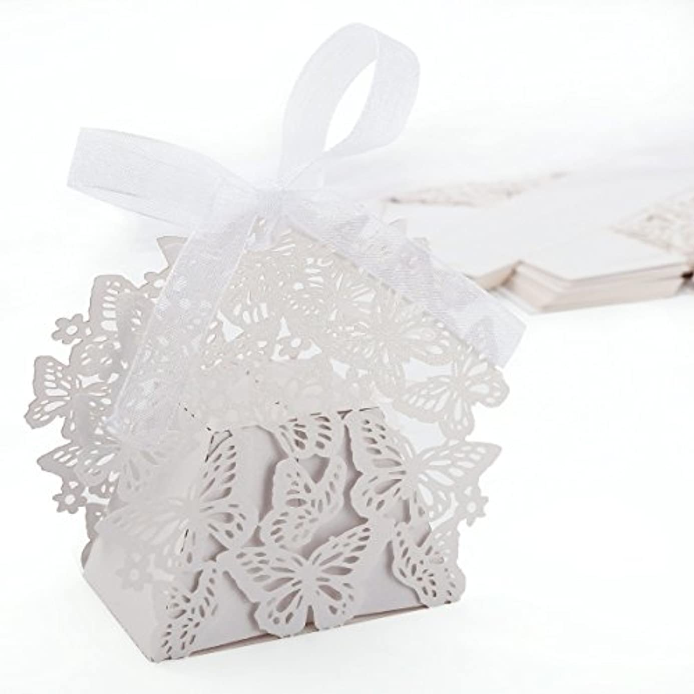 Anladia Butterfly Paper Cut Mini Cupcake Holder Wedding Favor Sweet Cake Gift Candy Wrap Boxes W/ Ribbon Table Decoration ztm0651942