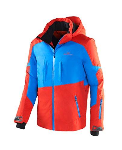 Black Crevice Herren Ski- und Snowboardjacke, BCR251004, mehrfarbig (rot/blau), Gr. 48